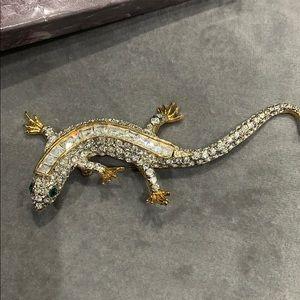 Jewelry - SILVER & MARCASITE SALAMANDER BROOCH